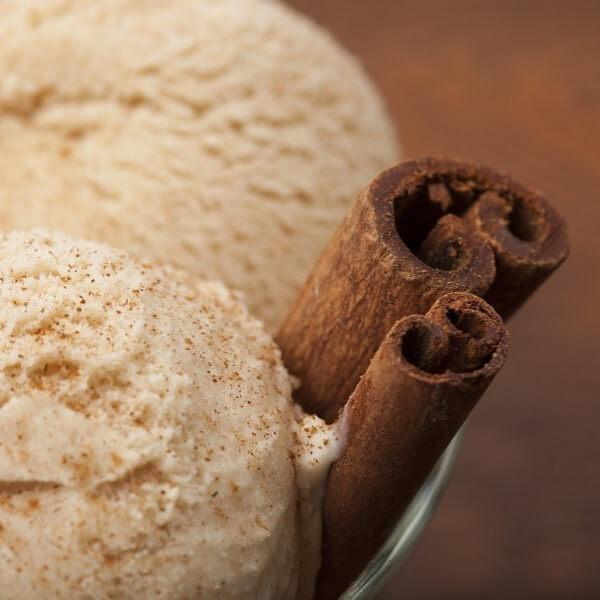 helado con canela